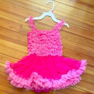 Other - 24 Month Party Dress with pink ruffles